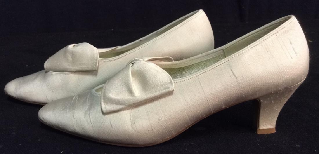 Vintage DYEABLES Silk Shoes w Bows & Original Box - 4