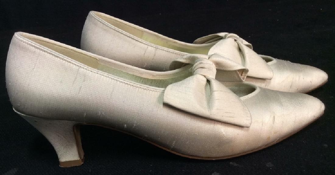 Vintage DYEABLES Silk Shoes w Bows & Original Box - 5