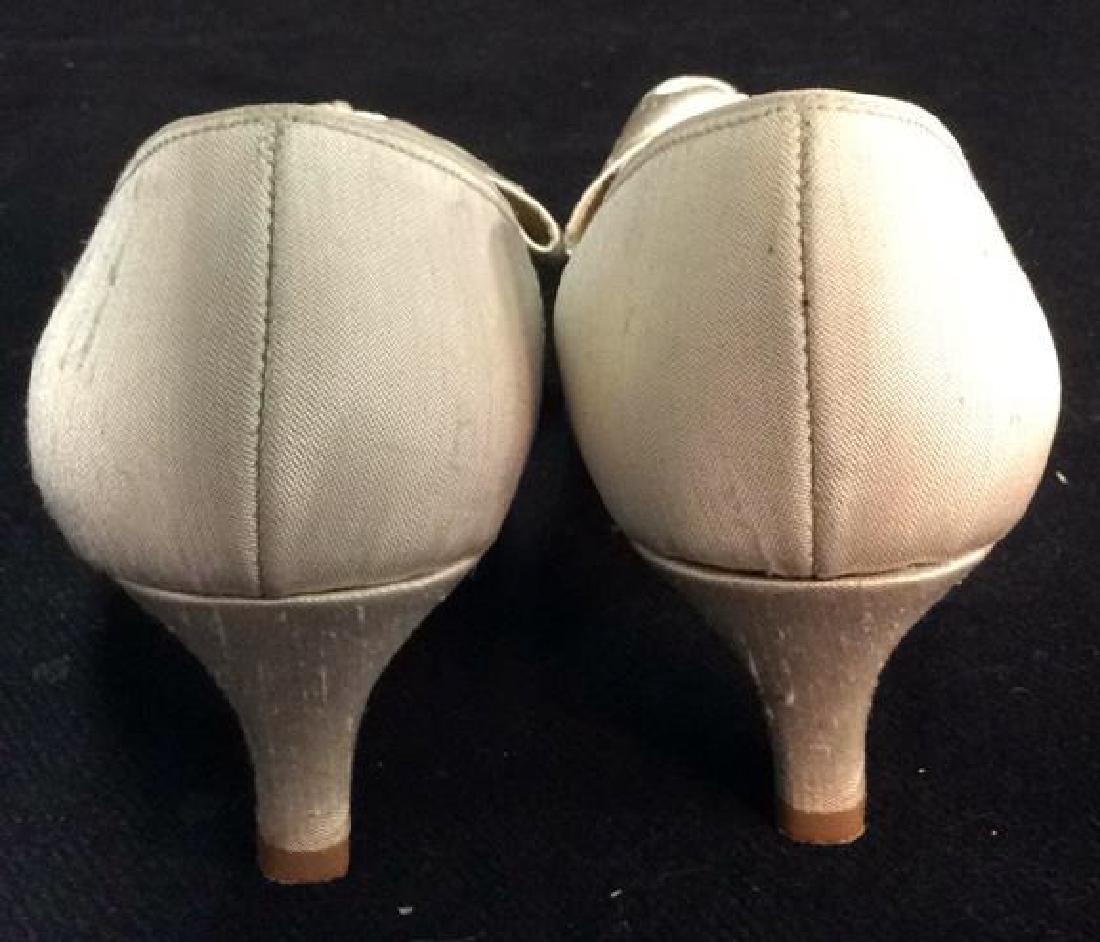 Vintage DYEABLES Silk Shoes w Bows & Original Box - 6