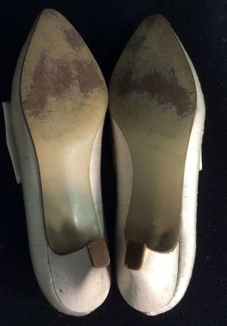 Vintage DYEABLES Silk Shoes w Bows & Original Box - 7