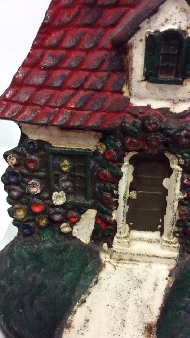 Pair Vintage Cast Iron Painted Doorstops - 4