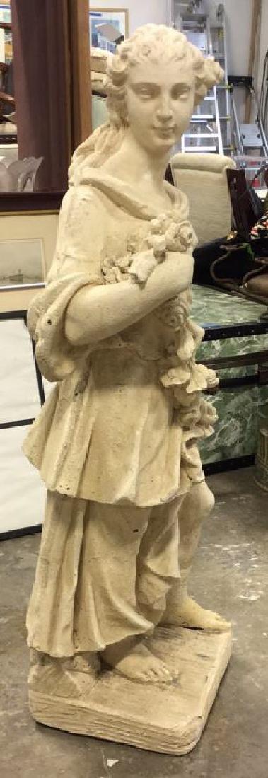 Stone Grecian Goddess Female Statuary - 3