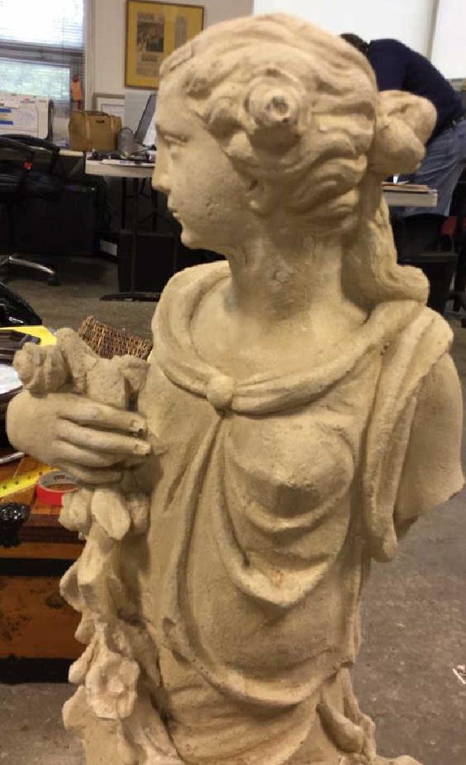 Stone Grecian Goddess Female Statuary - 8
