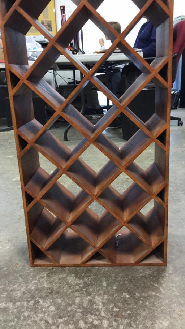 Custom Wood Wine Rack - 8