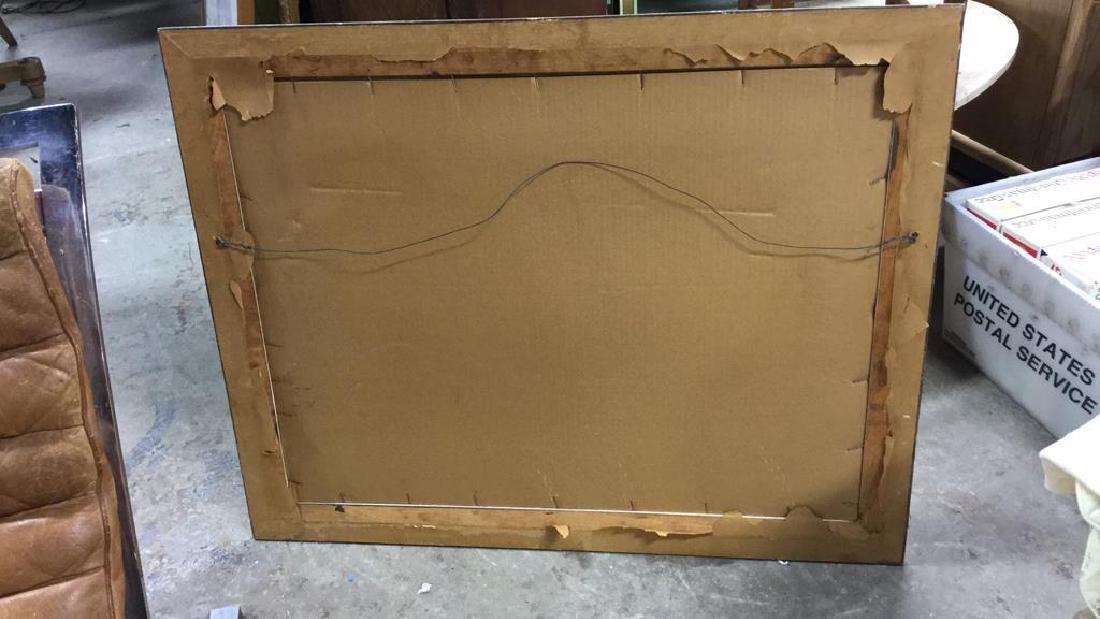 Signed Drift Wood Framed Watercolor Harbor Scene - 10