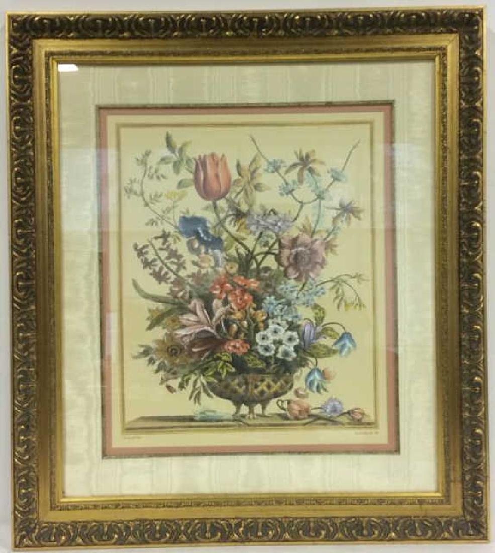 Framed & Matted Multi Toned Botanical Print