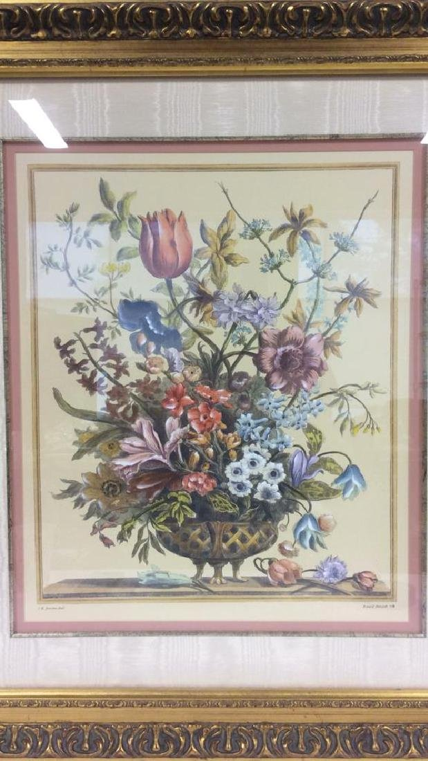 Framed & Matted Multi Toned Botanical Print - 3
