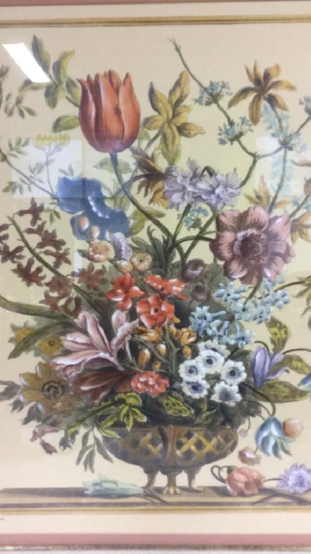 Framed & Matted Multi Toned Botanical Print - 4