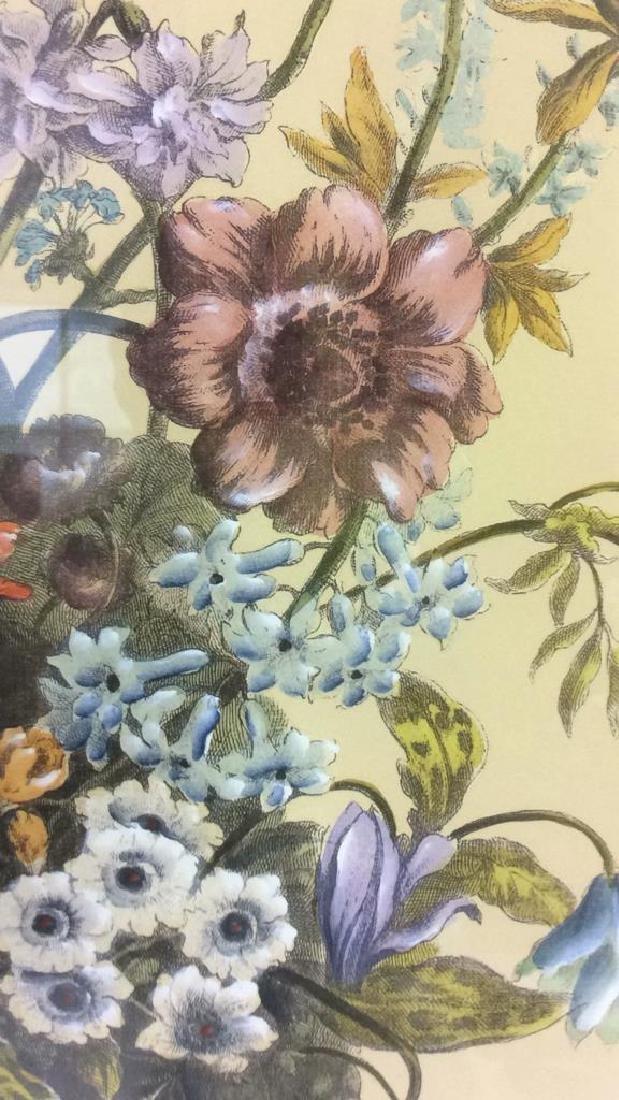 Framed & Matted Multi Toned Botanical Print - 6