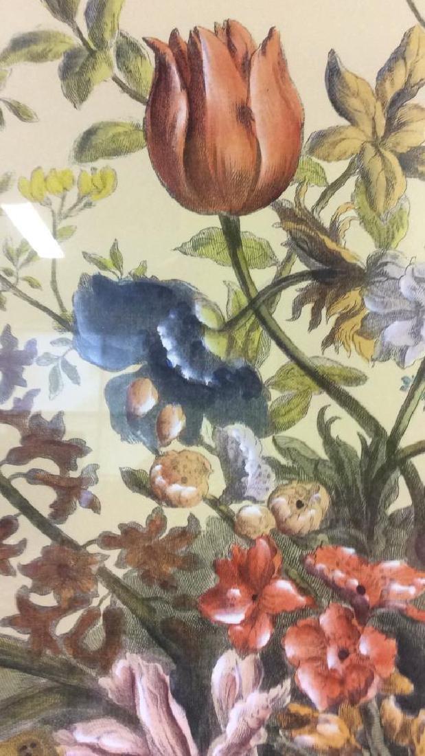 Framed & Matted Multi Toned Botanical Print - 7