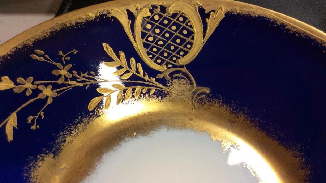 Blue Gold Porcelain Tea Cup Saucer Plate - 7