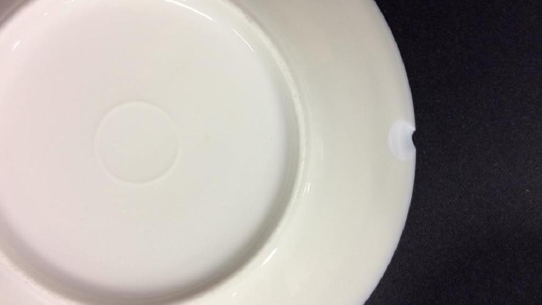 Blue Gold Porcelain Tea Cup Saucer Plate - 8