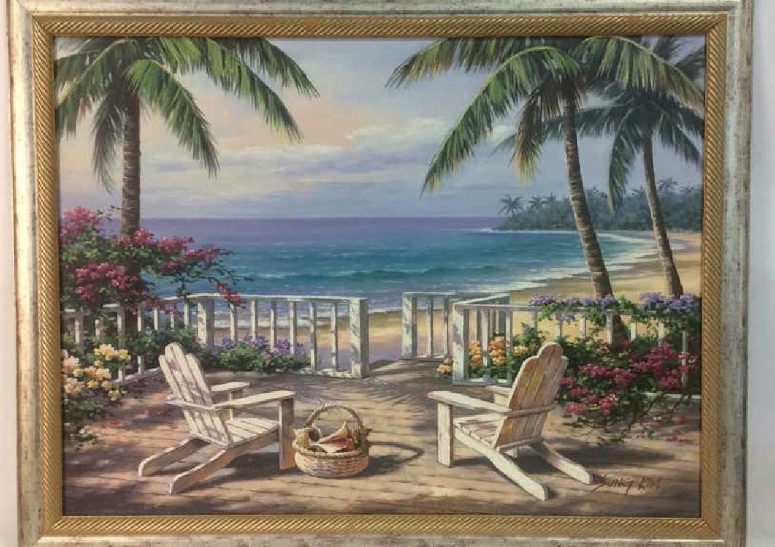 SUNG KIM Framed Beach Print On Board - 2