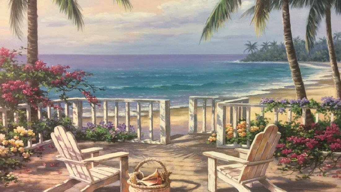 SUNG KIM Framed Beach Print On Board - 5