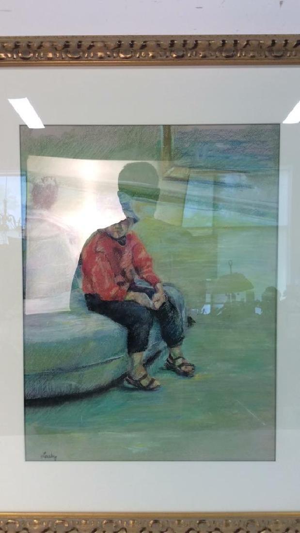 LASKY Framed Pastel Artwork of Child - 3