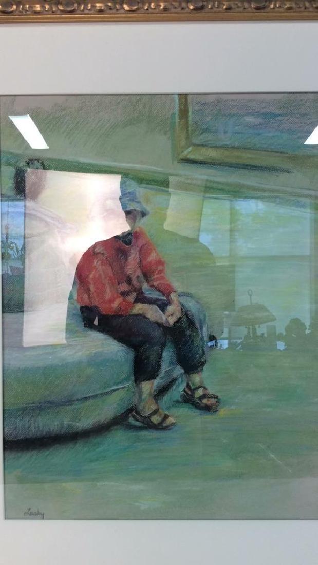 LASKY Framed Pastel Artwork of Child - 4