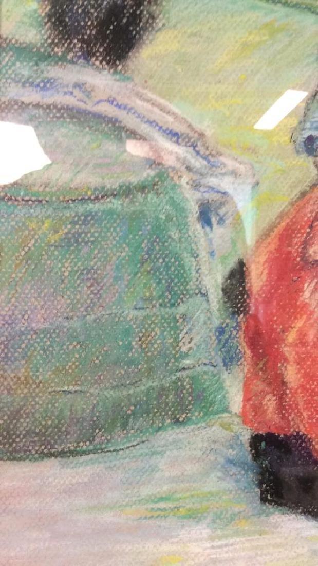 LASKY Framed Pastel Artwork of Child - 5