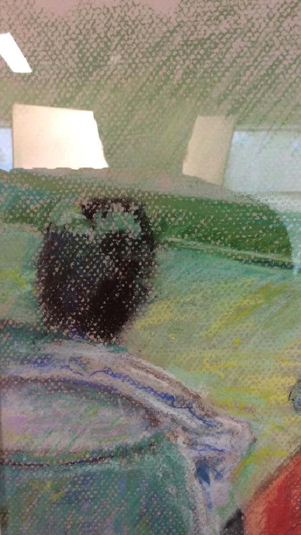 LASKY Framed Pastel Artwork of Child - 6