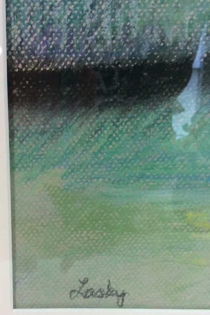 LASKY Framed Pastel Artwork of Child - 8