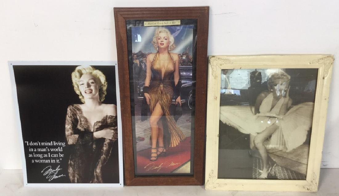 Lot 3 Vintage Frame With Marilyn Monroe Photo