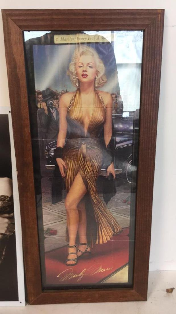Lot 3 Vintage Frame With Marilyn Monroe Photo - 7