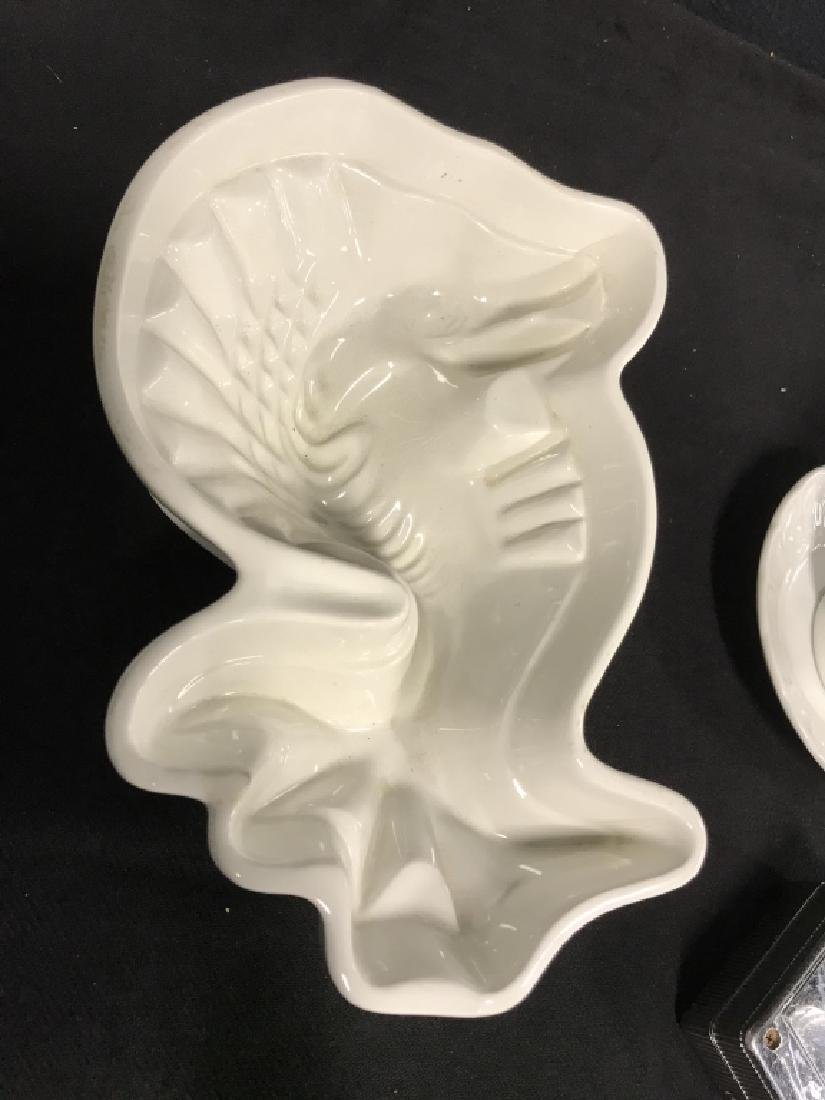 Lot 5 Assorted White Toned Porcelain Tabletop Acc. - 6