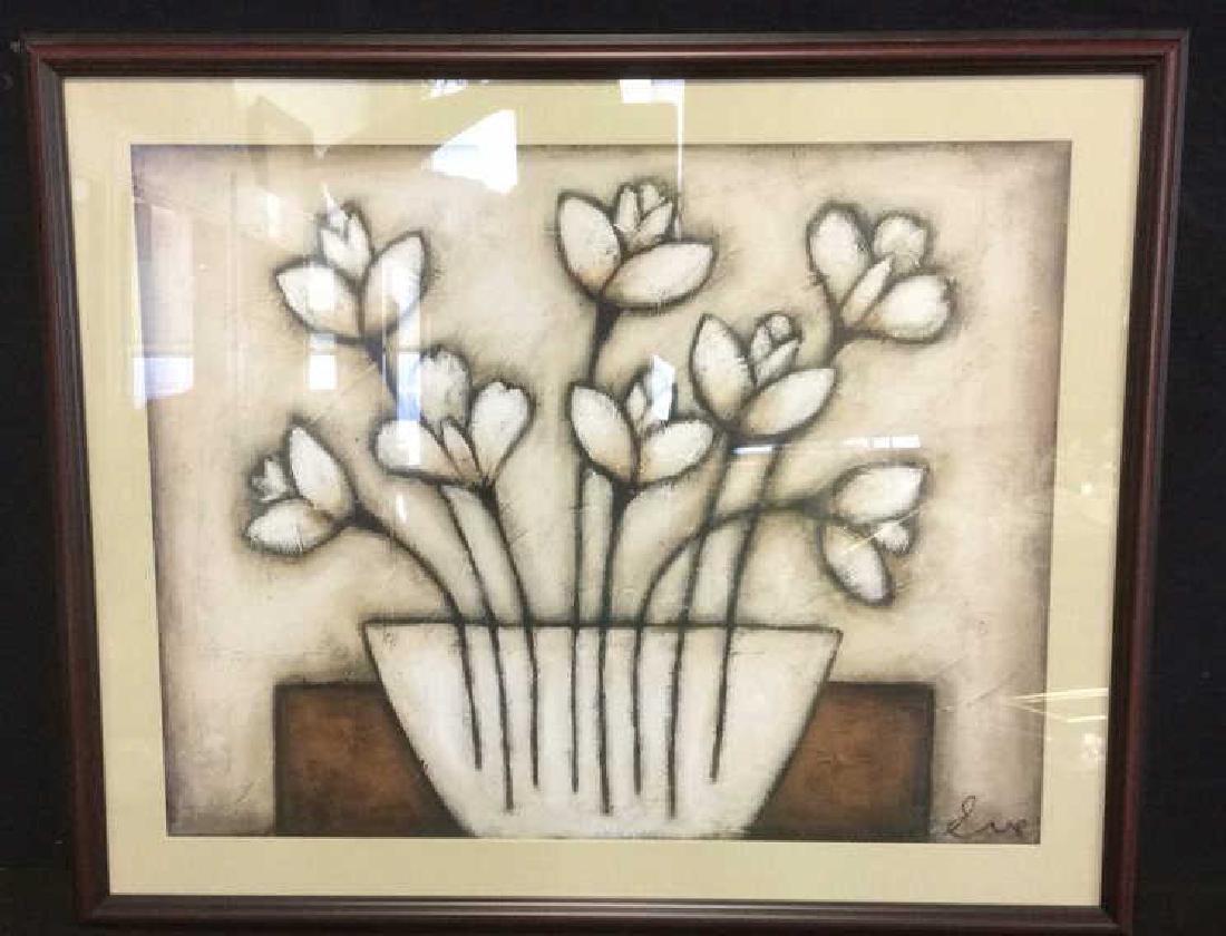 Framed & Matted Floral Print