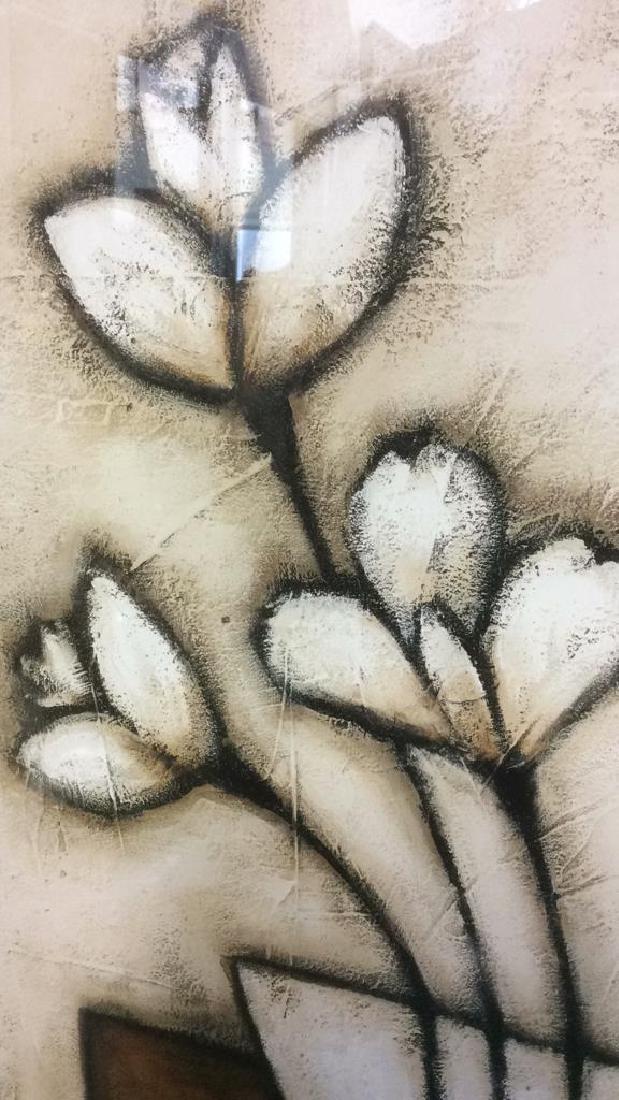 Framed & Matted Floral Print - 6