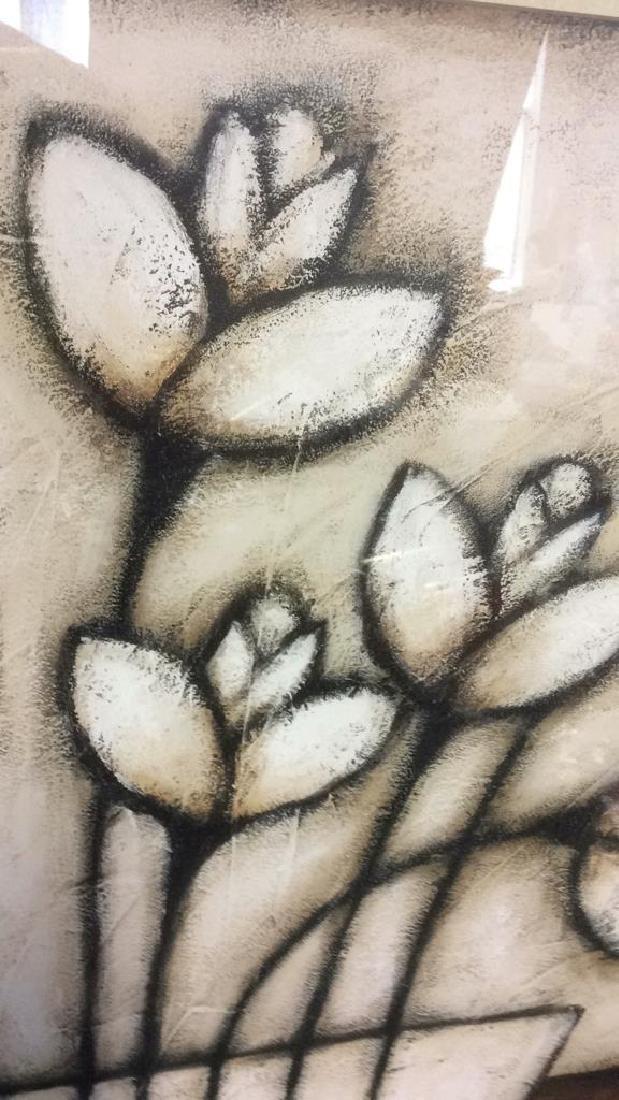 Framed & Matted Floral Print - 7