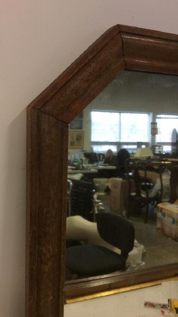 VIntage Wooden Frame Mirror - 3