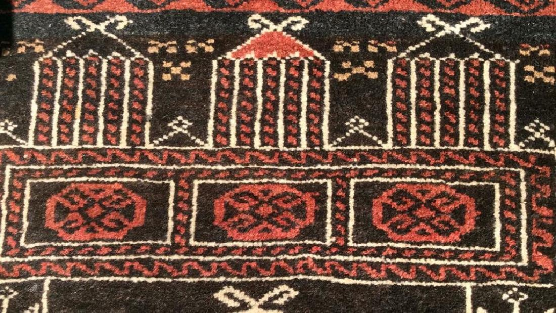 Antique Handmade Oriental Wool Rug W Fringes - 5