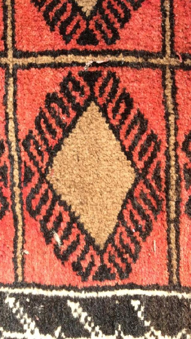 Antique Handmade Oriental Wool Rug W Fringes - 9