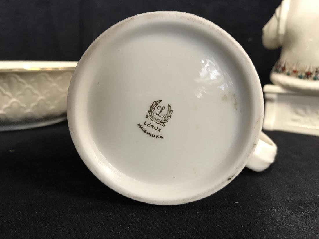 Lot 3 LENOX Vintage China Tabletop Accessories - 9