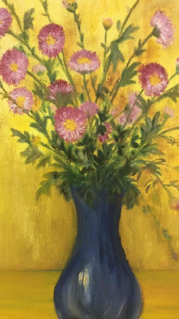 M ENTWISTLE Floral Painting On Canvas - 4