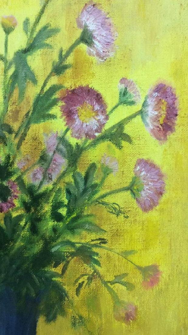 M ENTWISTLE Floral Painting On Canvas - 5