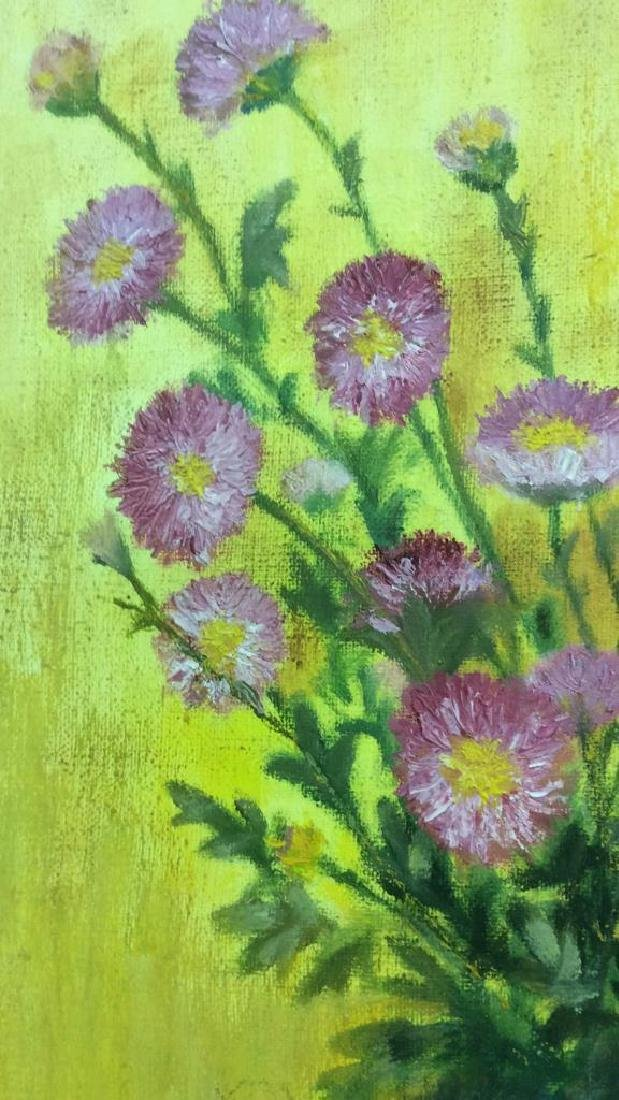 M ENTWISTLE Floral Painting On Canvas - 6