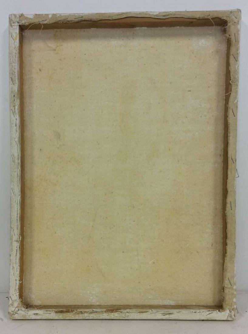 M ENTWISTLE Floral Painting On Canvas - 8