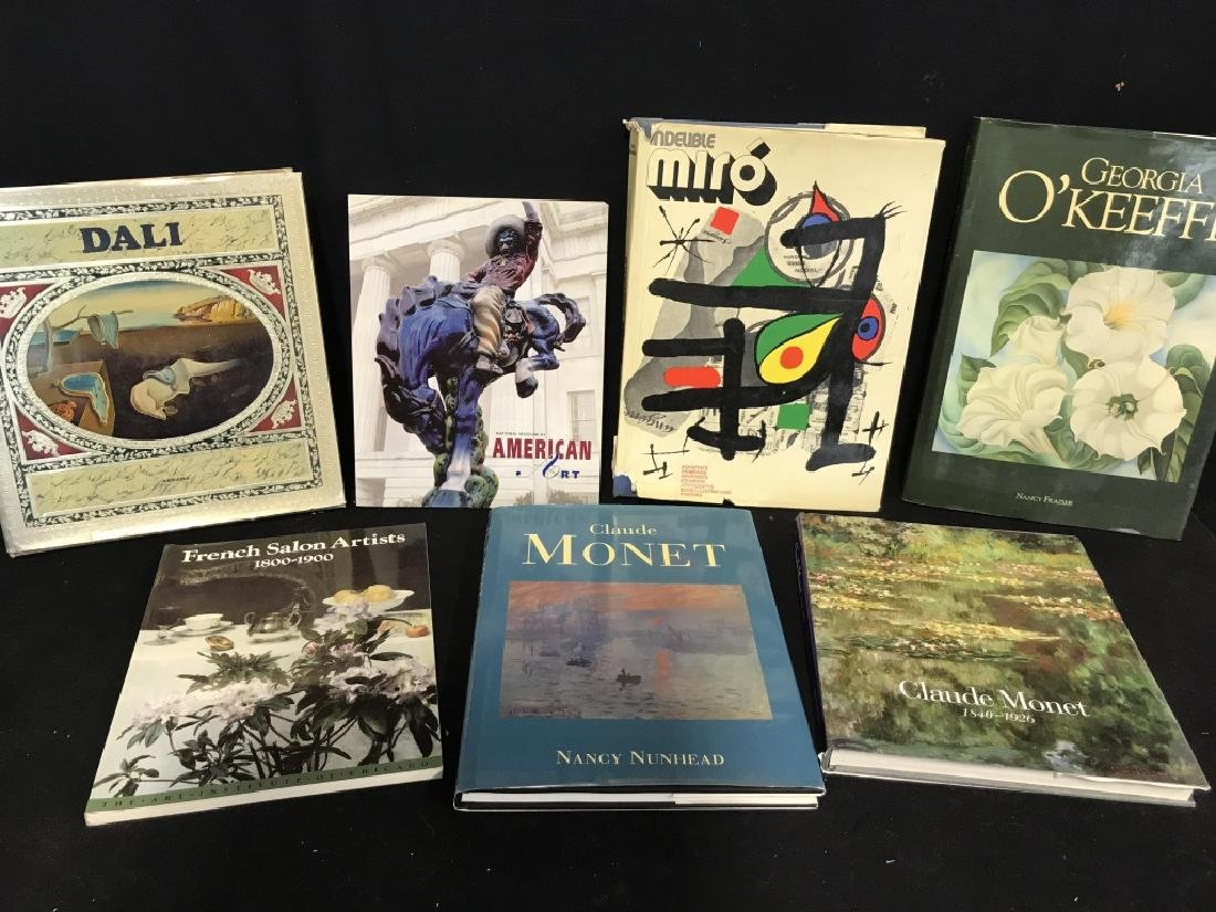Lot 7 Assorted Art Coffee Table Books