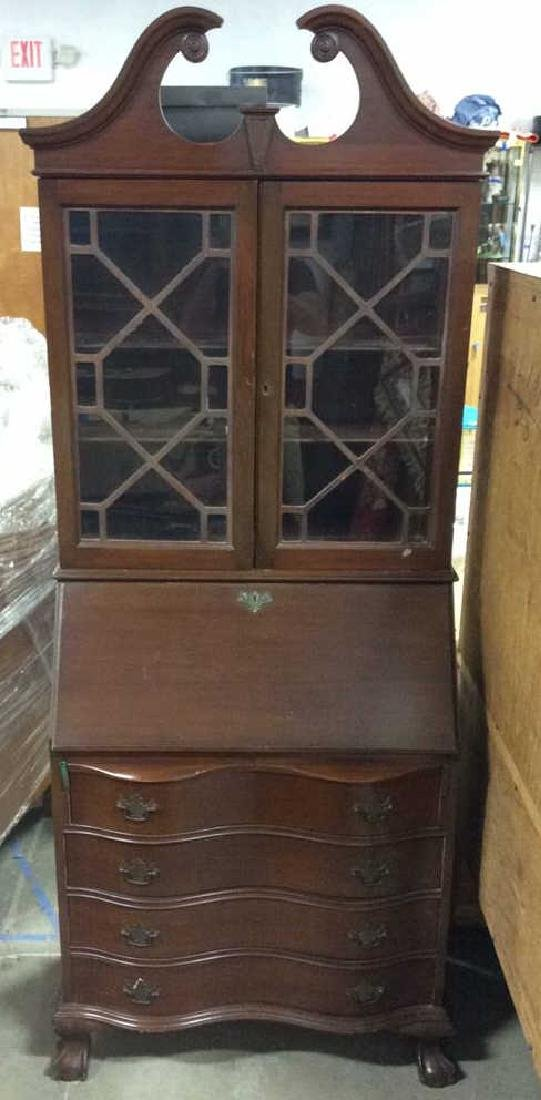 Vintage Mahogany Display Cabinet & Writers Desk