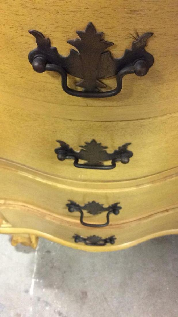 Carved Wood Drop Front  Writers Desk W Drawers - 7
