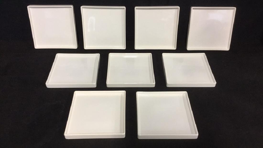 Set Of 9 Square Ceramic Dishes By CB2