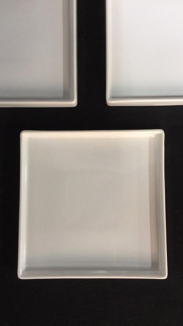 Set Of 9 Square Ceramic Dishes By CB2 - 4