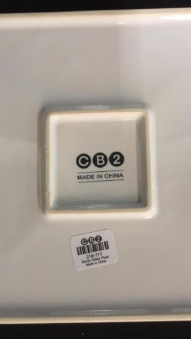 Set Of 9 Square Ceramic Dishes By CB2 - 5