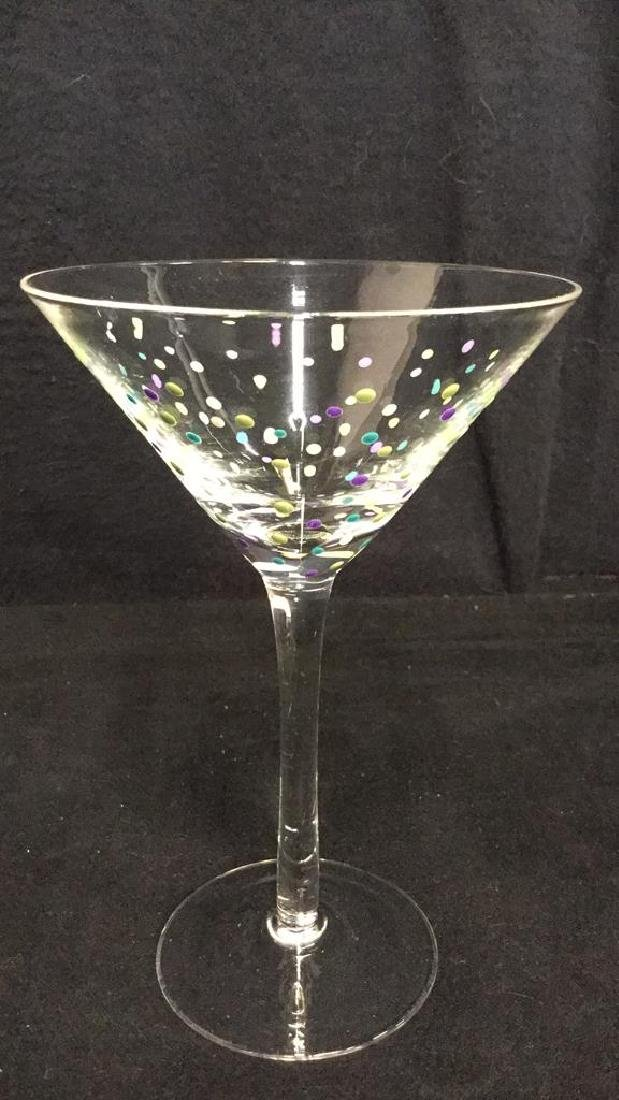 Lot 5 Hand Painted Stemware, Tumbler And Vase - 5