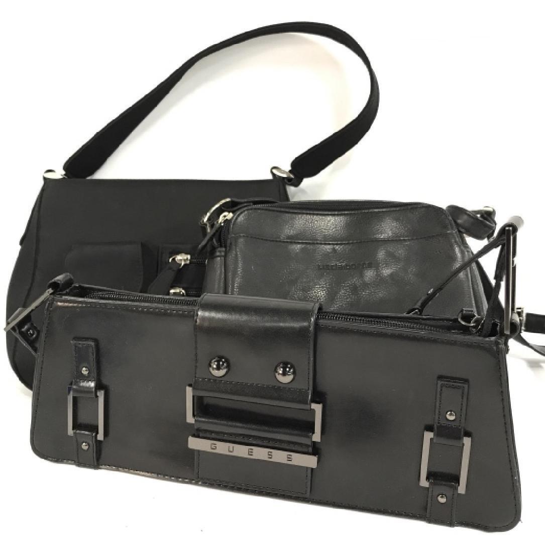 Lot 3 Black Toned Women's Designer Handbags