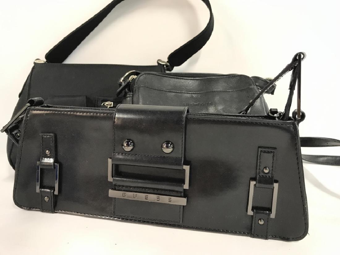 Lot 3 Black Toned Women's Designer Handbags - 2