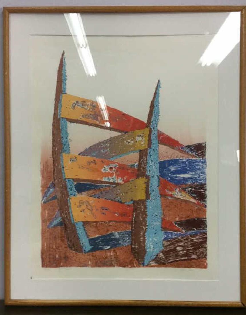 ESCALERA Framed Contemporary  Artwork - 2