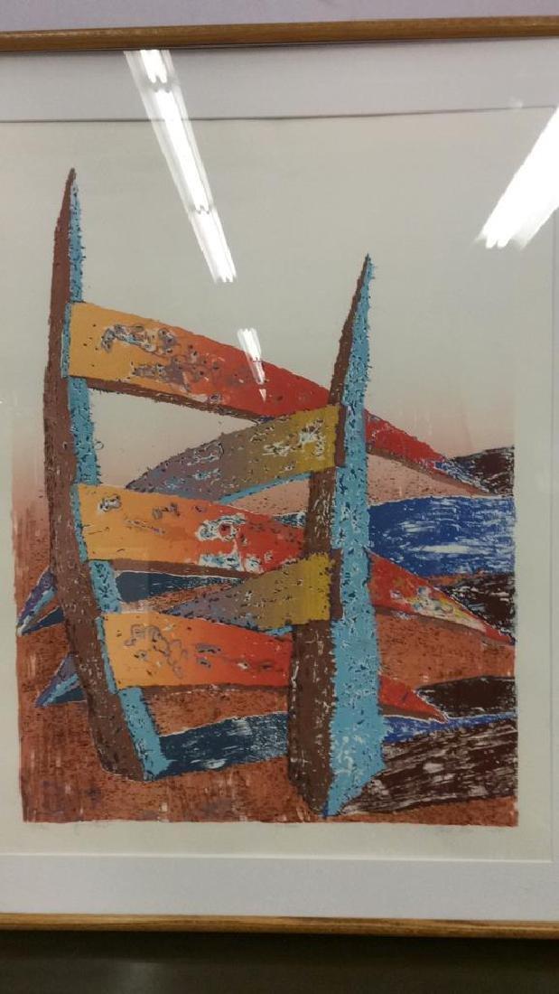 ESCALERA Framed Contemporary  Artwork - 3