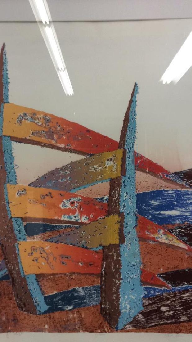 ESCALERA Framed Contemporary  Artwork - 4