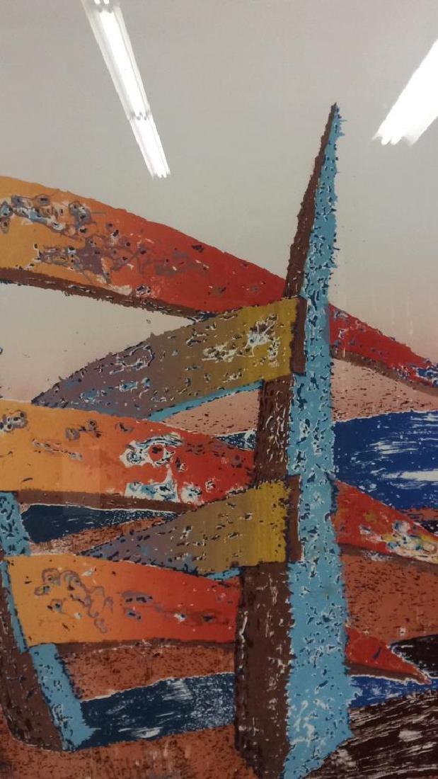 ESCALERA Framed Contemporary  Artwork - 5
